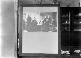 Neg no. 157 : Lincolniana ; First Reading of the Emancipation Proclamation by  Francis Bicknell C...