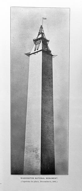 Washington Monument (Capstone in place, December 6, 1884)