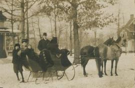 Cobb family sleigh ride