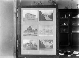 Neg no. 157 : Lincolniana ; Homes of Lincoln in swinging frame