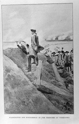 Washington and Rochambeau in the Trenches at Yorktown